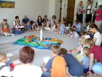 Kinderkirche zum Patrozinium im Pfarrgarten bzw. in der Marienkirche