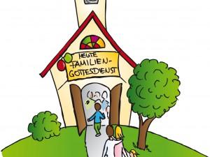 Familiengottesdienst mit dem Bichler Kindergarten