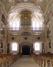 Der Blick zur Orgelempore